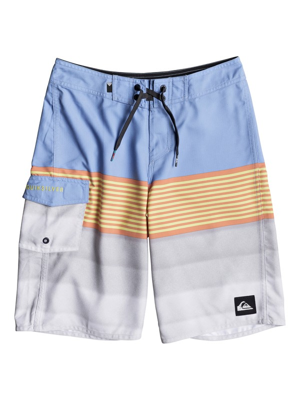 "0 Boys 8 -16 Division 19"" Boardshorts Blue EQBBS03248 Quiksilver"