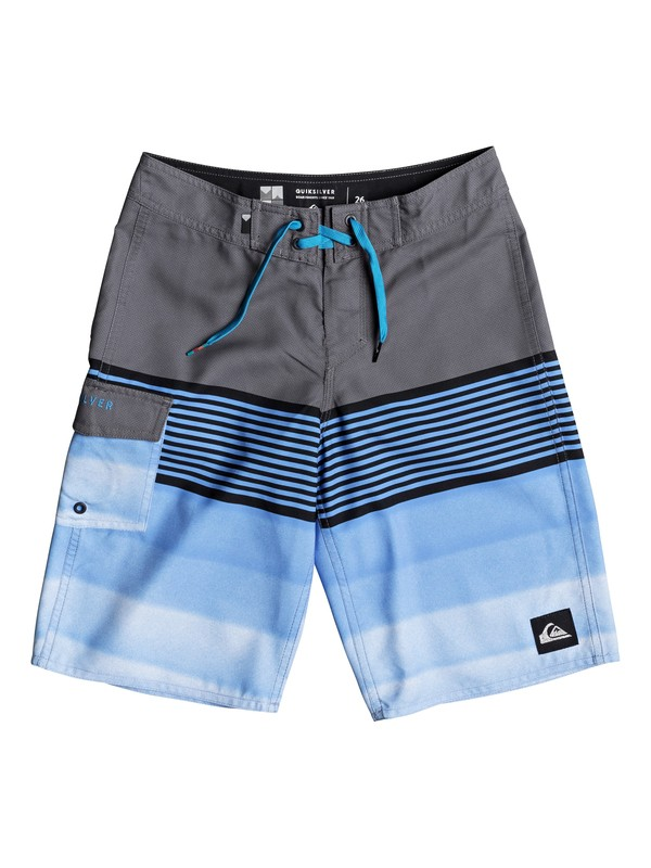 "0 Boys 8 -16 Division 19"" Boardshorts Black EQBBS03248 Quiksilver"