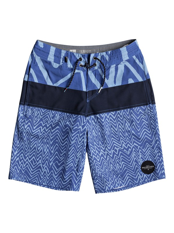 "0 Boys 8 -16 Techtonics 18"" Volley Boardshorts Blue EQBBS03250 Quiksilver"