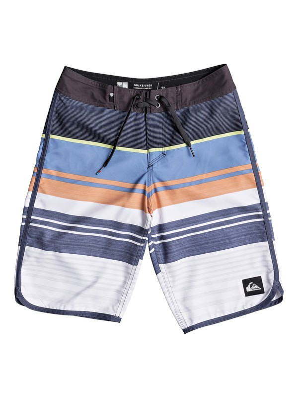 "0 Boys 8 -16 Eye Scallop 19"" Boardshorts Black EQBBS03255 Quiksilver"