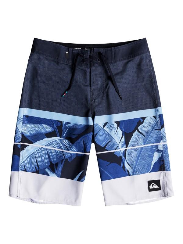 "0 Boys 8 -16 Slab Island 19"" Boardshorts Blue EQBBS03259 Quiksilver"