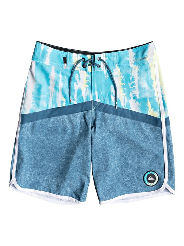 "0 Boys 8-16 Highline Fortune 17"" - Boardshorts Blue EQBBS03277 Quiksilver"