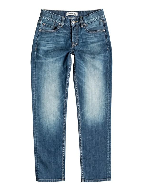 0 Revolver Medium Blue - Straight Fit Jeans  EQBDP03074 Quiksilver