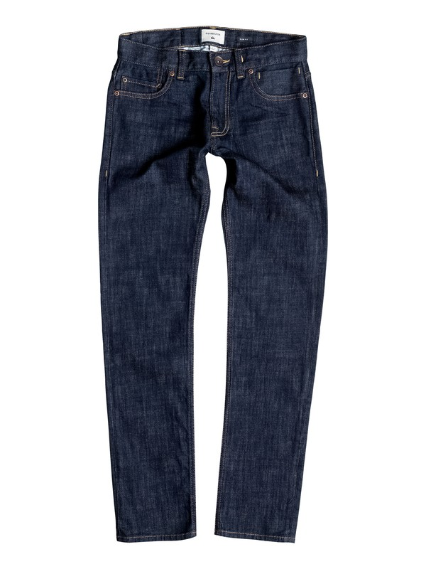 0 Distorsion Rinse - Jean coupe slim Bleu EQBDP03090 Quiksilver