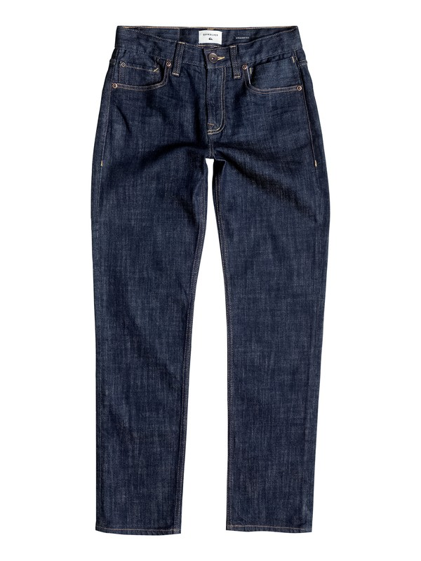 0 Revolver Rinse - Straight Fit Jeans Blue EQBDP03091 Quiksilver