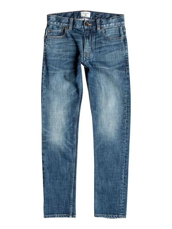 0 Distorsion Medium Blue - Jean coupe slim  EQBDP03095 Quiksilver