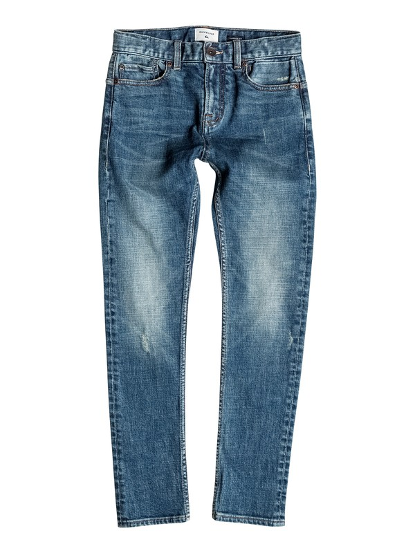 0 Low Bridge Blue Damaged - Jeans con vestibilità skinny Blue EQBDP03096 Quiksilver