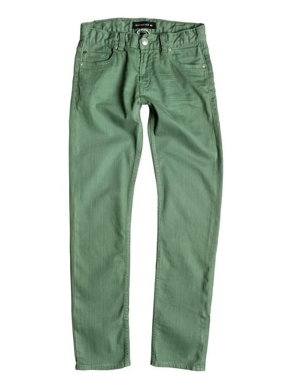 0 Distorsion Colors - Slim Fit Jeans Green EQBDP03098 Quiksilver