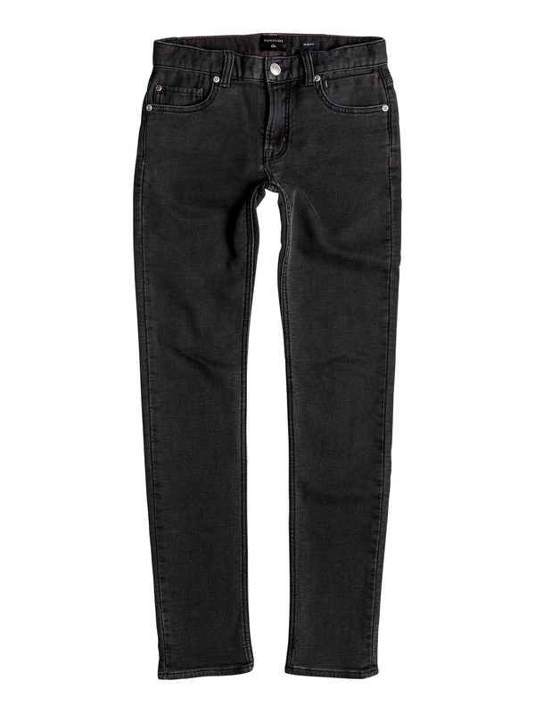 0 Distorsion Fleece Grey - Jean slim en jersey denim Noir EQBDP03125 Quiksilver