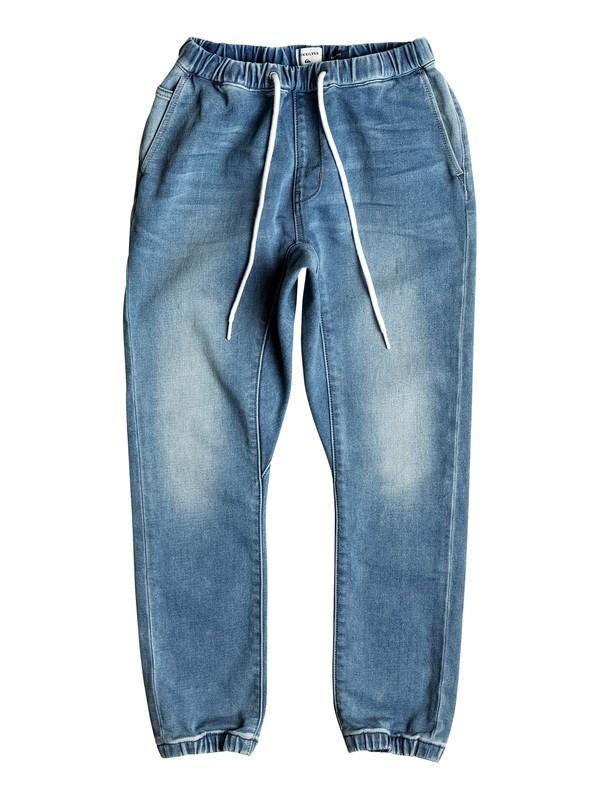 0 Fonic Creamy - Slim Fit Denim Joggers Blue EQBDP03127 Quiksilver