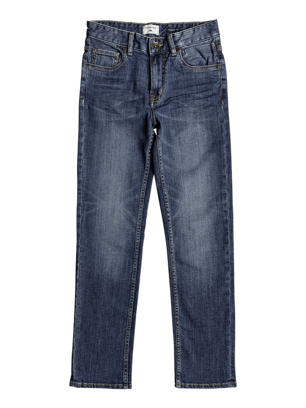 0 Revolver Sky - Straight Fit Jeans Blue EQBDP03135 Quiksilver
