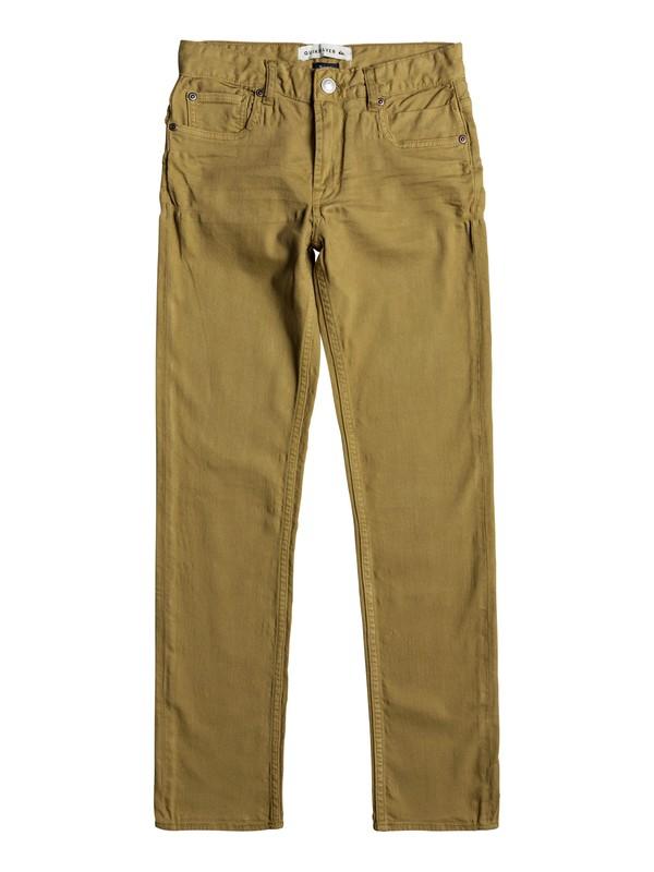 0 Distorsion Colors - Slim Fit Jeans Brown EQBDP03137 Quiksilver