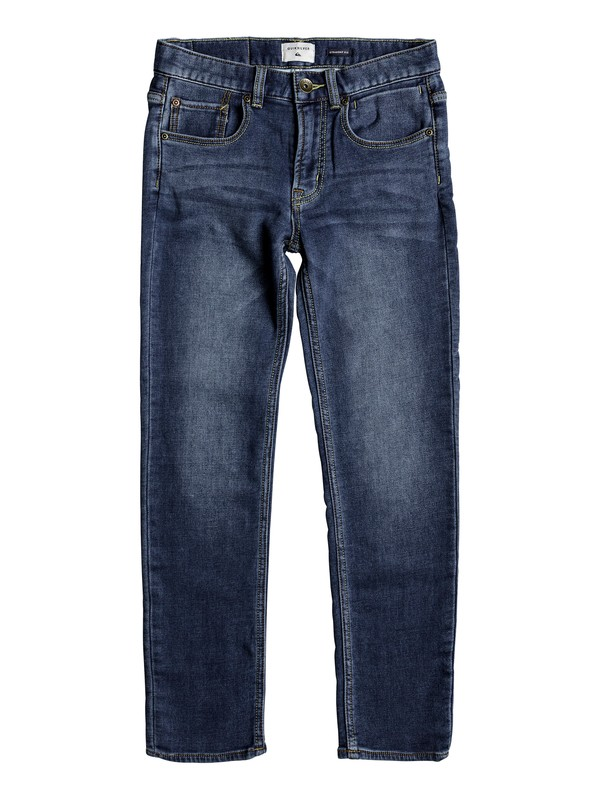 0 Revolver Hash Blue - Straight Fit Jeans Blue EQBDP03138 Quiksilver