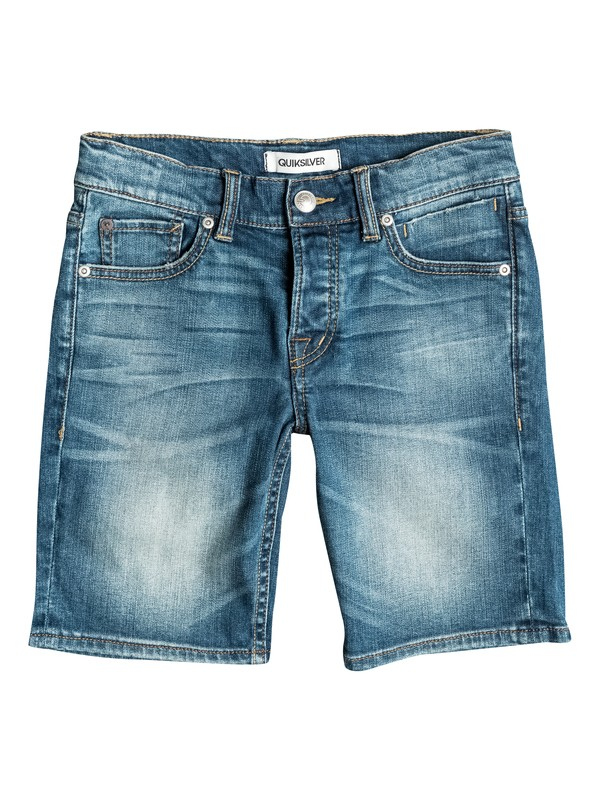 0 Revolver Medium Blue - Short denim Bleu EQBDS03020 Quiksilver