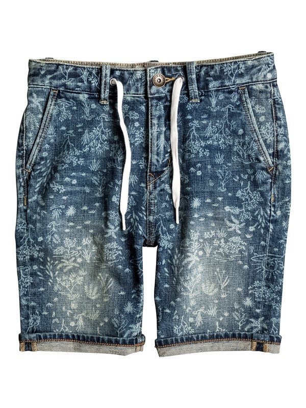 0 Bloom Field - Denim Shorts  EQBDS03043 Quiksilver