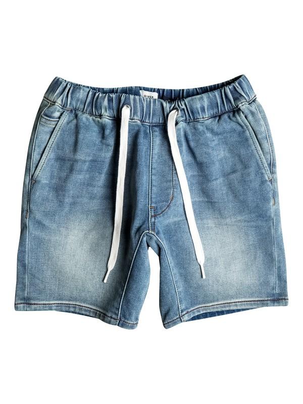 0 Fonic Creamy - Slim Fit Denim Jogger Shorts Blue EQBDS03046 Quiksilver