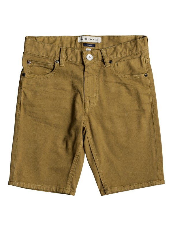 0 Distorsion Colors - Denim-Shorts Braun EQBDS03050 Quiksilver