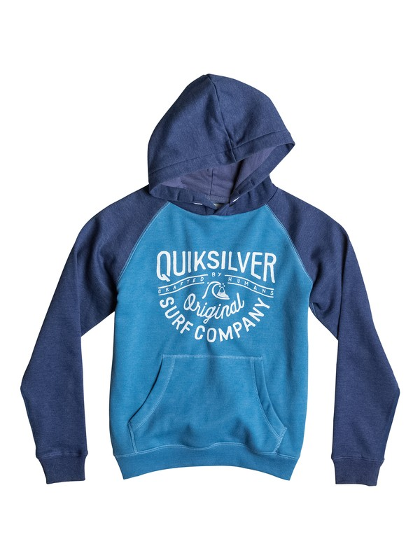 0 Major Block Screen Print - Pullover  EQBFT03083 Quiksilver