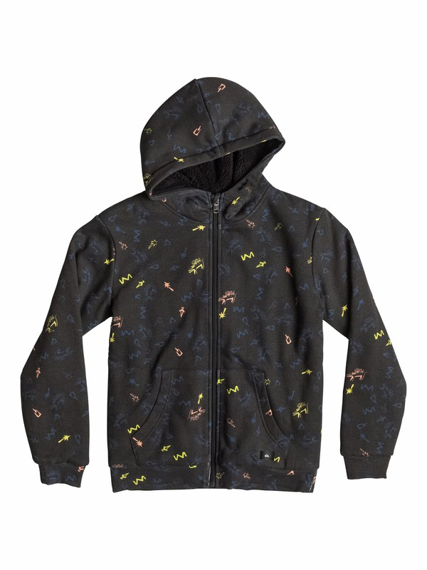 0 Allover Sherpa Ghetto - Zip-Up Hoodie  EQBFT03112 Quiksilver