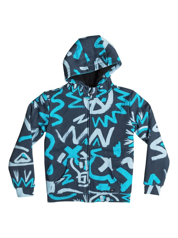 0 Allover Sherpa Cave Rave - Zip-Up Hoodie  EQBFT03133 Quiksilver