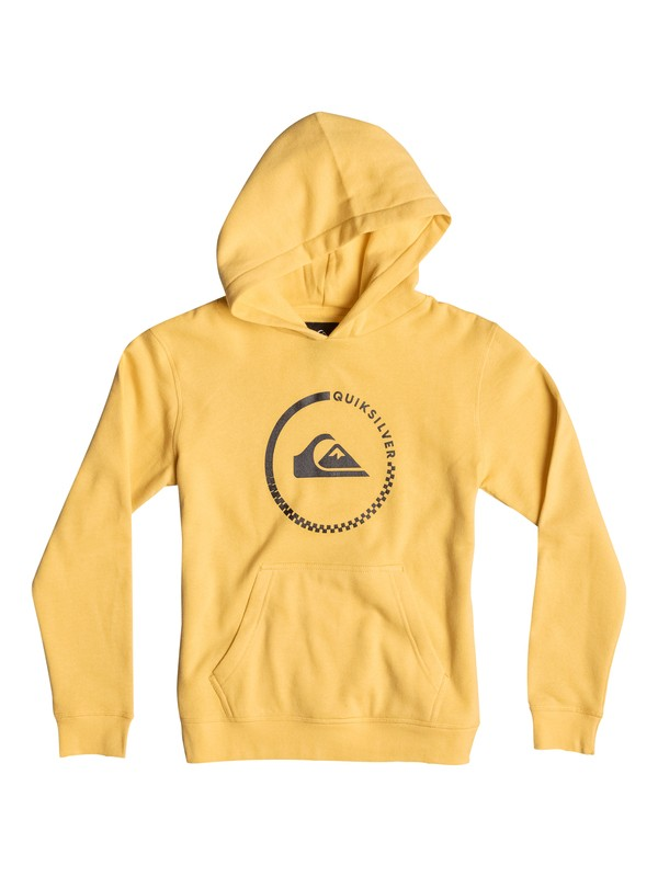 0 Everyday Active Check - Hoodie Yellow EQBFT03147 Quiksilver