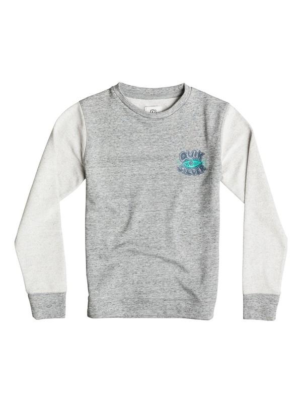 0 Visions Reverse Crew - Sweatshirt Noir EQBFT03193 Quiksilver
