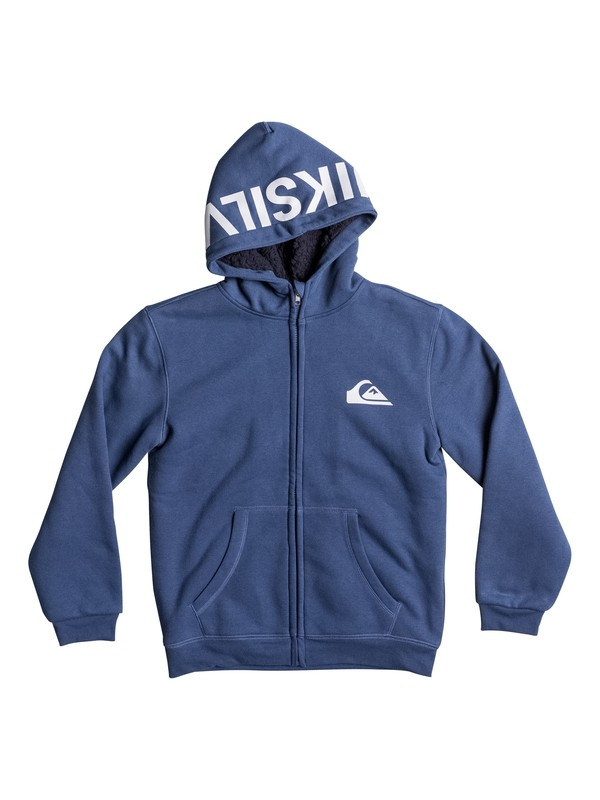 0 Best Wave Sherpa - Sweat à capuche zippé Bleu EQBFT03226 Quiksilver