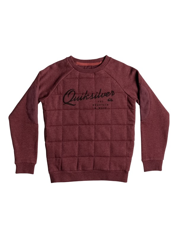 0 Happy Myth - Sweat matelassé Rouge EQBFT03229 Quiksilver