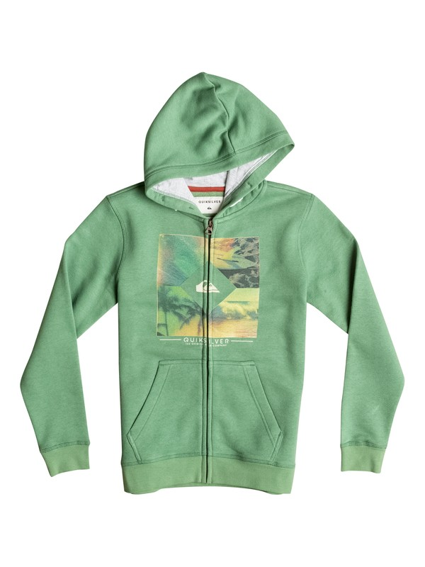 0 Diamond Day - Sweat à capuche zippé Vert EQBFT03235 Quiksilver