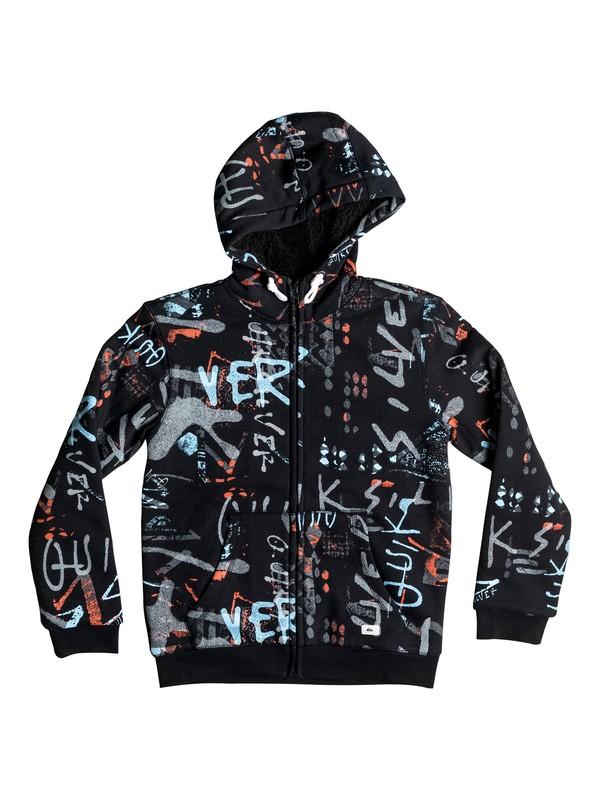 0 Meadowbrooks Sherpa - Sweat à capuche zippé Noir EQBFT03240 Quiksilver