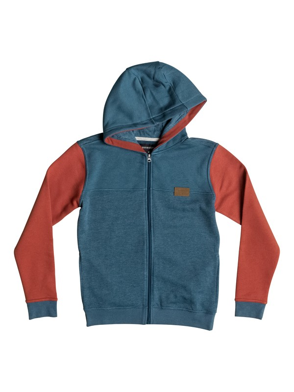 0 Iconic Science - Sweat à capuche zippé Bleu EQBFT03246 Quiksilver