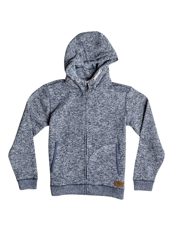 0 Keller - Sweat à capuche zippé Bleu EQBFT03257 Quiksilver