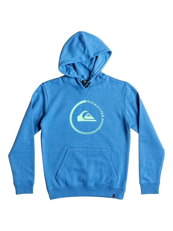 0 Big Logo - Sweat à capuche Bleu EQBFT03260 Quiksilver