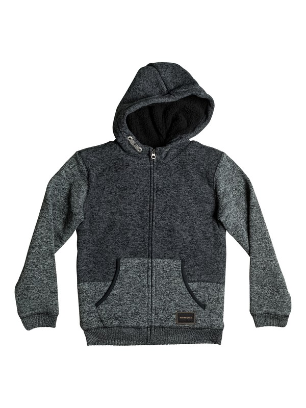 0 Keller Sherpa - Felpa con cappuccio e zip Black EQBFT03286 Quiksilver