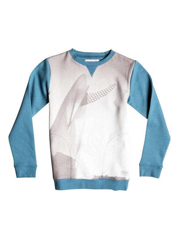 0 Photoprint - Sweat Bleu EQBFT03287 Quiksilver
