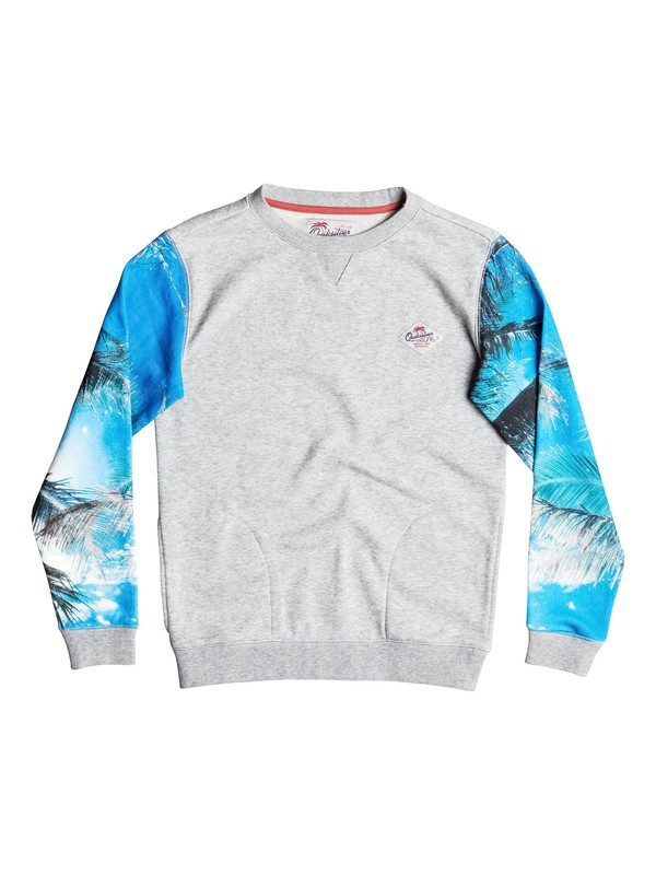 0 Grab And Go - Sweat Gris EQBFT03317 Quiksilver