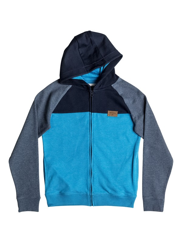 0 Whatever Mum - Sweat à capuche zippé Bleu EQBFT03326 Quiksilver