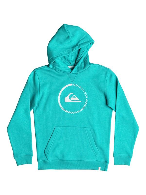 0 Big Logo - Hoodie Blau EQBFT03338 Quiksilver