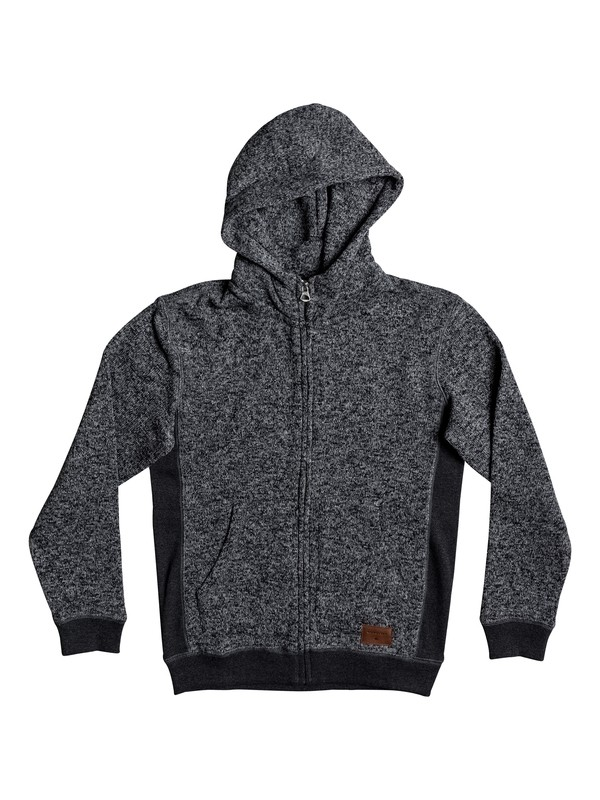 0 Boy's 8-16 Keller Zip-Up Hoodie Black EQBFT03388 Quiksilver