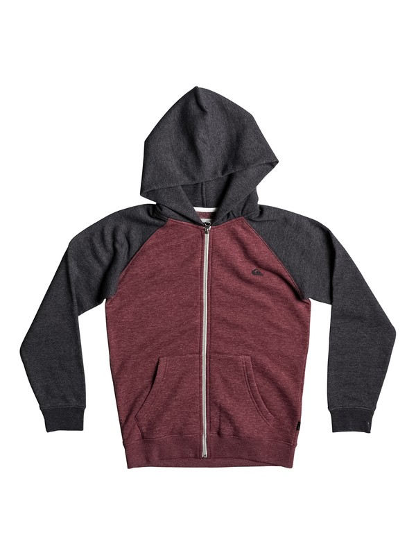 0 Everyday - Zip-Up Hoodie Red EQBFT03394 Quiksilver