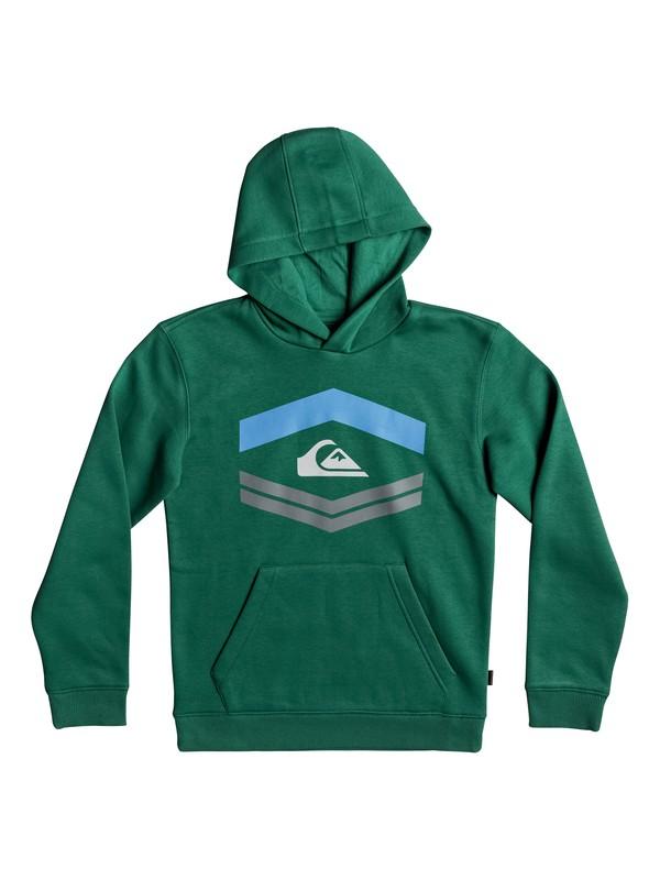 0 Boy's 8-16 New Port Roca Hoodie Green EQBFT03405 Quiksilver