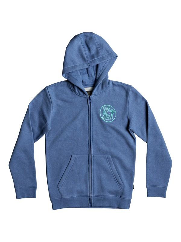 0 Boy's 8-16 Sagu Zipped Hoodie Blue EQBFT03406 Quiksilver