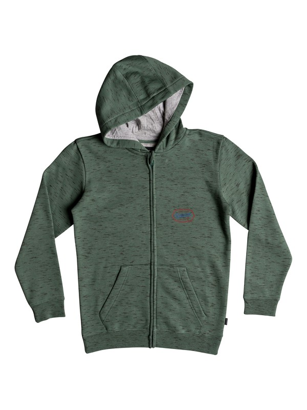 0 Living On The Edge - Zip-Up Hoodie Blue EQBFT03470 Quiksilver