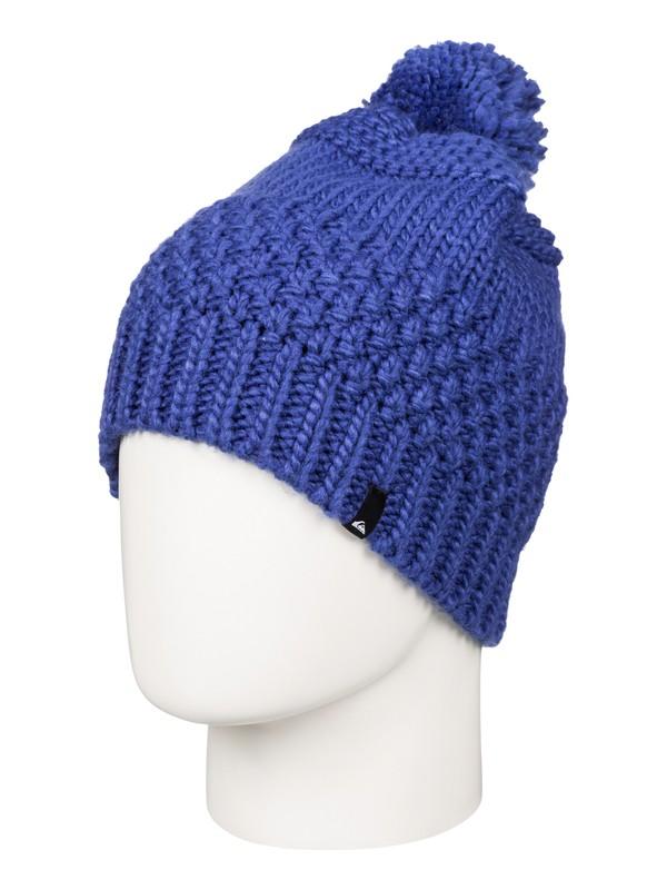 0 Planter - Bonnet à pompon Bleu EQBHA03012 Quiksilver