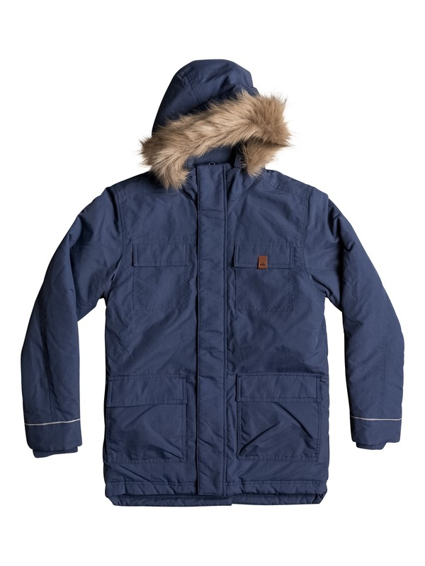 0 Seasonal Rain - Water-Repellent Parka Jacket Blue EQBJK03131 Quiksilver