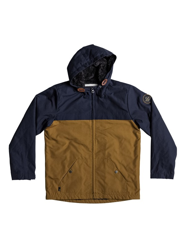 0 Wanna DWR - Water-Repellent Hooded Jacket Blue EQBJK03136 Quiksilver