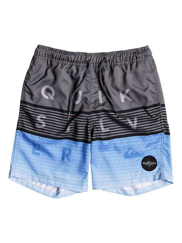 """0 Word Block 15"""" - Swim Shorts Black EQBJV03136 Quiksilver"""