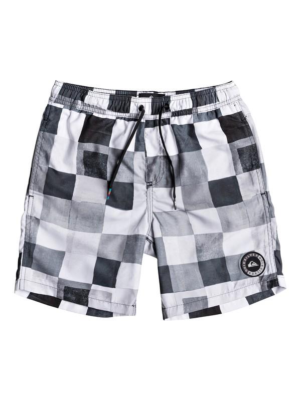 "0 Resin Check 15"" - Swim Shorts Black EQBJV03139 Quiksilver"