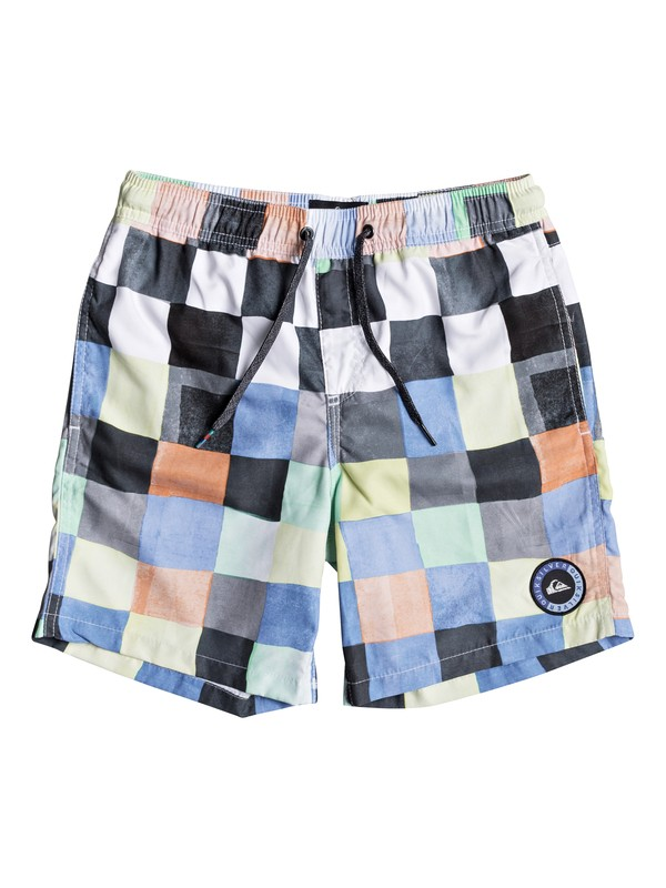 0 RESIN CHECK VOLLEY YOUTH 15 White EQBJV03139 Quiksilver