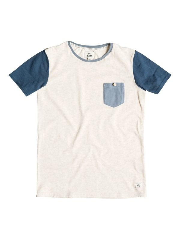 0 Bay Sic Pocket - T-shirt Blanc EQBKT03048 Quiksilver